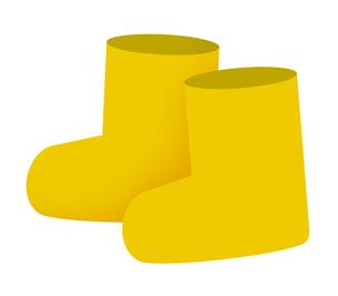 黄色い長靴のイラスト素材 [FYI04131310]