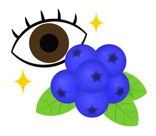 ブルーベリーで視力回復のイラスト素材 [FYI04131367]