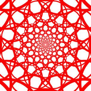 赤い幾何学模様のイラスト素材 [FYI04131369]