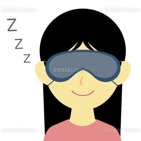 アイマスクをして眠る女性のイラスト素材 [FYI04131370]