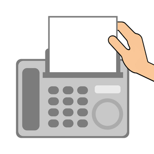 FAXの送信のイラスト素材 [FYI04131372]