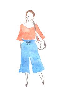 バッグを持つ女性のイラスト素材 [FYI04131542]