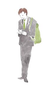 スーツ姿の男性のイラスト素材 [FYI04131543]