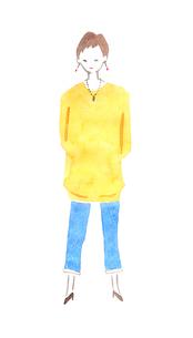 立っている女性のイラスト素材 [FYI04131544]
