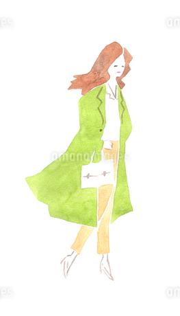 コート姿の女性のイラスト素材 [FYI04131545]