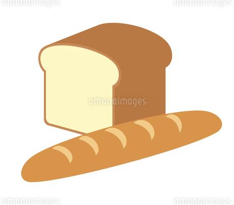 フランスパンと食パンのイラスト素材 [FYI04131551]
