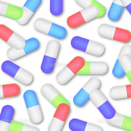 沢山のカプセル剤のイラスト素材 [FYI04131557]