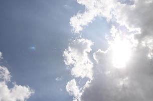 サンパウロの夏の雲と青空の写真素材 [FYI04131575]