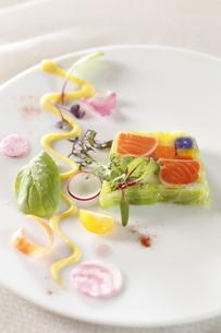 野菜と魚介のテリーヌの写真素材 [FYI04132758]