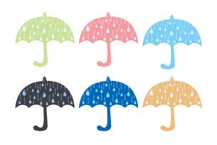 雨模様の傘セットのイラスト素材 [FYI04133288]
