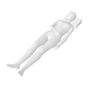 ホワイトモデル寝てるのイラスト素材 [FYI04134410]