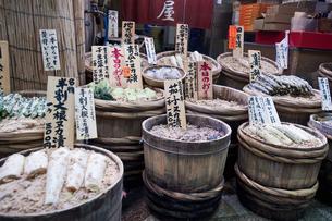 錦漬物屋,,,市場の写真素材 [FYI04134952]