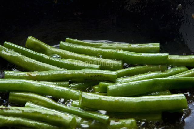 インゲン豆のソテーの写真素材 [FYI04135208]