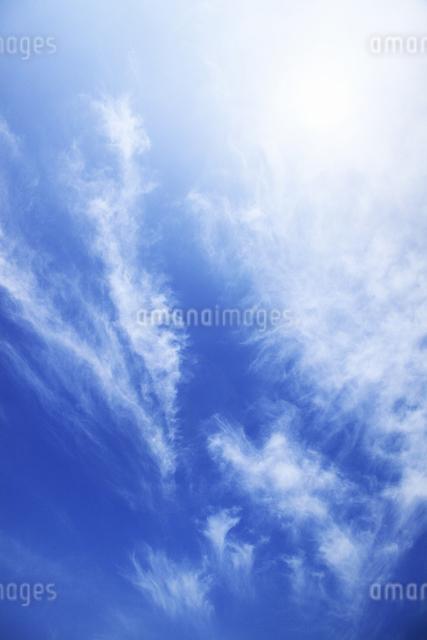 太陽と青空の写真素材 [FYI04135488]