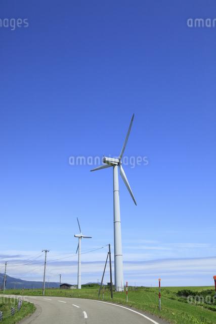 風力発電用風車の写真素材 [FYI04135548]