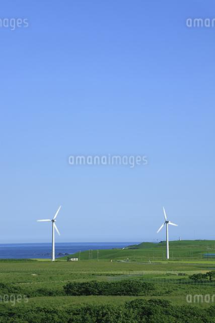 風力発電用風車の写真素材 [FYI04135608]
