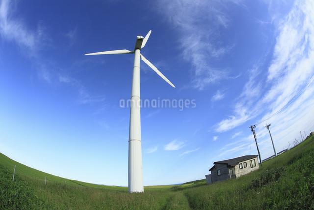 風力発電用風車の写真素材 [FYI04135614]
