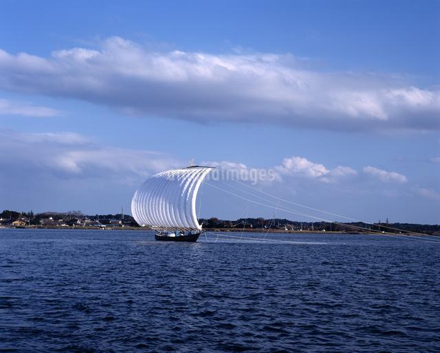 霞ヶ浦 帆引き船の写真素材 [FYI04135761]