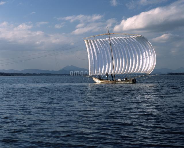 霞ヶ浦 帆引き船の写真素材 [FYI04135763]