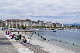 スイス、ジュネーブの風景の写真素材 [FYI04136016]