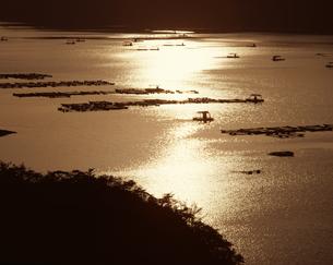 釣り屋形 夕景の写真素材 [FYI04136094]