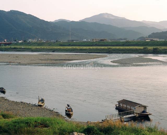 四万十川 夕景の写真素材 [FYI04136130]