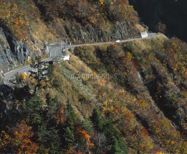 秋の白山スーパー林道の写真素材 [FYI04136450]
