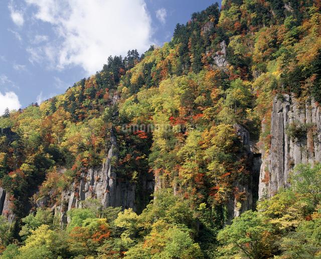 天人峡の岩壁の写真素材 [FYI04136691]