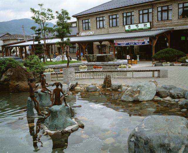 JR遠野駅前の写真素材 [FYI04136732]