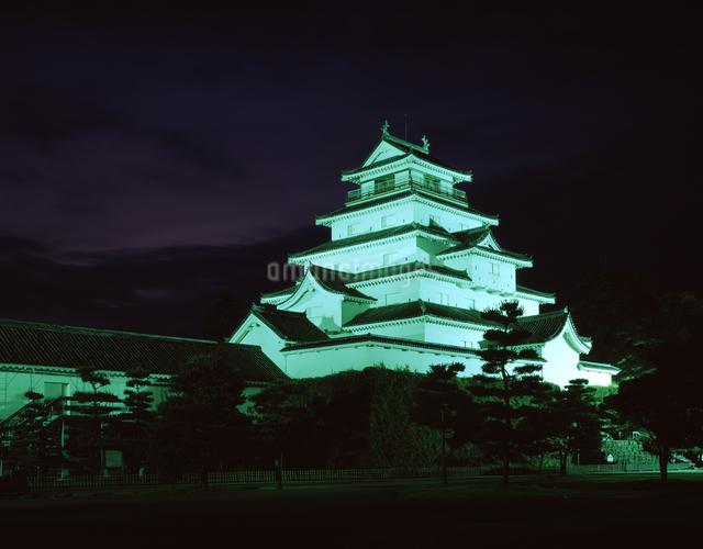 鶴ヶ城 夜景の写真素材 [FYI04136761]
