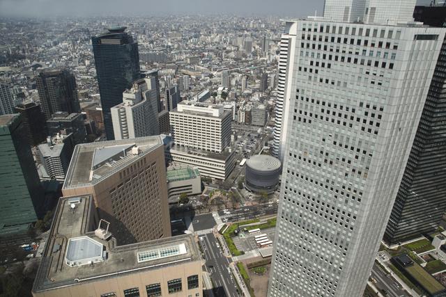 西新宿の高層ビル群の写真素材 [FYI04136807]
