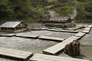 日光湯元温泉の源泉の写真素材 [FYI04136892]
