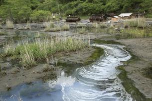 日光湯元温泉の源泉の写真素材 [FYI04136893]