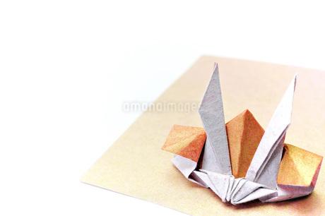 折り紙の兜の写真素材 [FYI04136897]