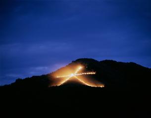 五山送り火の写真素材 [FYI04136955]