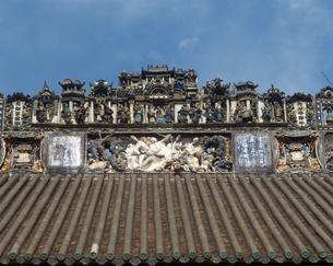 陳氏書院の屋根の写真素材 [FYI04137063]