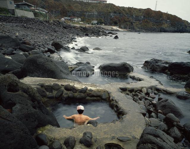 水無海浜温泉露天風呂の写真素材 [FYI04137079]