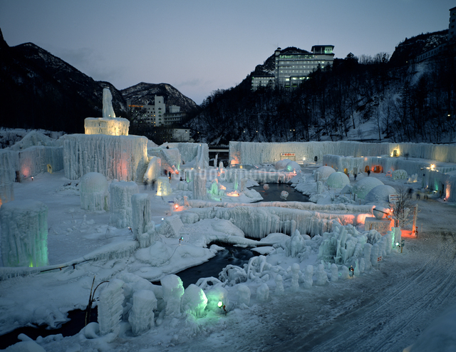 層雲峡氷瀑まつりの写真素材 [FYI04137083]