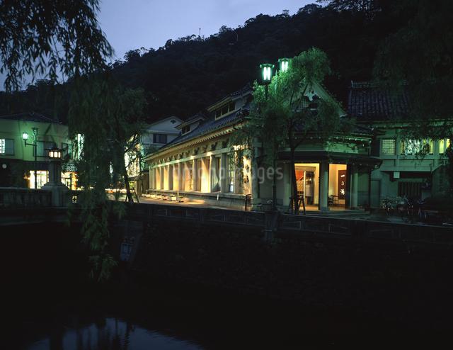 城崎温泉の夕の写真素材 [FYI04137087]