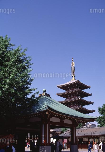 浅草寺五重塔の写真素材 [FYI04137208]