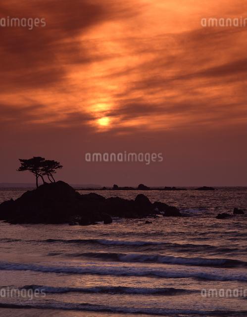 玄界灘の夕暮れの写真素材 [FYI04137430]