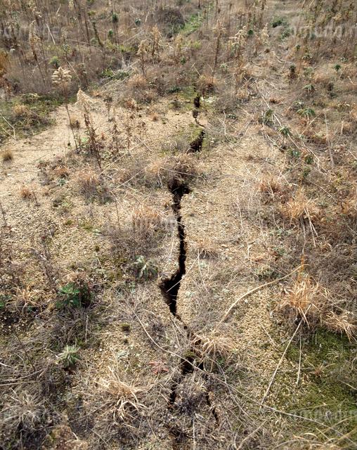 阪神淡路大震災で出た活断層の写真素材 [FYI04137521]