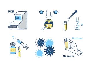 ウイルス検査イメージセットのイラスト素材 [FYI04139621]