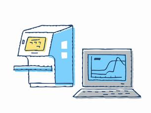 ウイルス検査イメージ 検査機器のイラスト素材 [FYI04139630]