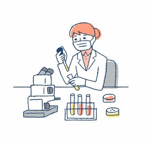 実験室 臨床検査 女性のイラスト素材 [FYI04139638]