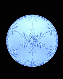 雪の結晶の写真素材 [FYI04140052]