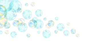 しゃぼん玉水彩画のイラスト素材 [FYI04140571]