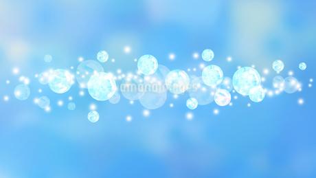 シャボン玉青背景のイラスト素材 [FYI04140572]
