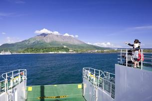 フェリーから望む桜島の写真素材 [FYI04141558]