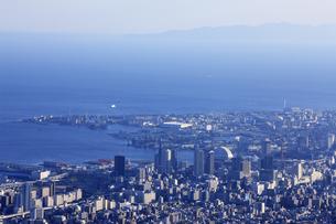 六甲山山頂からの風景の写真素材 [FYI04144346]